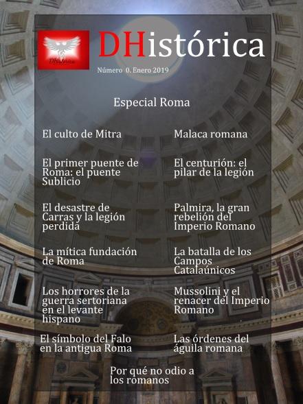 Portada del nº0 especial de Roma de la revista digital DHistórica