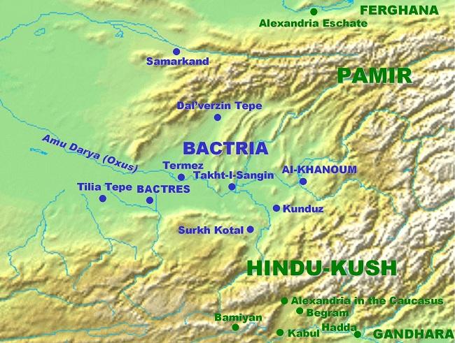 Localización de Ai Khanoum