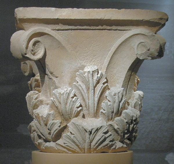 Capitel corintio hallado en Ai Khanoum (Livius.org)