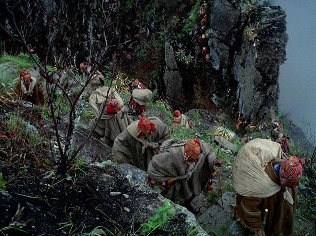 Fotograma de la película Aguirre cólera de Dios