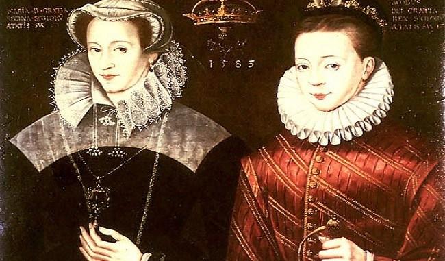 María Estuardo con su hijo, Jacobo I de Inglaterra y VI de Escocia