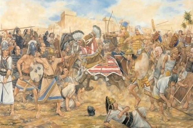 Batalla de Megiddo entre Egipto y el Reino de Judá año 609 a.C., durante el Egipto saíta (Alchetron)