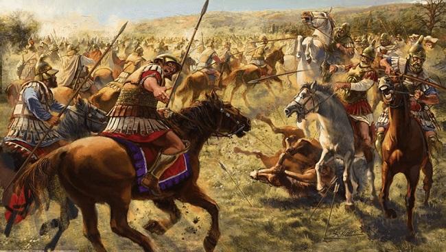 Ilustración de la batalla de Gránico 334 a.C. (Arrecaballo)