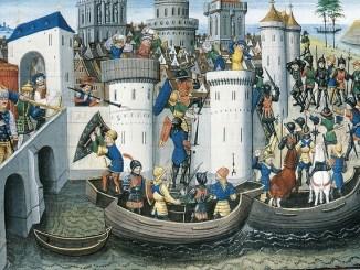 Cuadro del siglo XVI sobre el sitio de Constantinopla en 1204