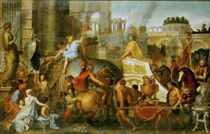 Primera entrada triunfal de Alejandro Magno en Babilonia, de Charles Le Brun
