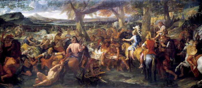 """Alejandro y Poro"", obra de Charles le Brun (siglo XVII)"