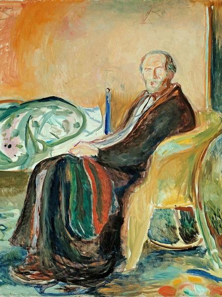Autorretrato después de la gripe española, de Edvard Munch