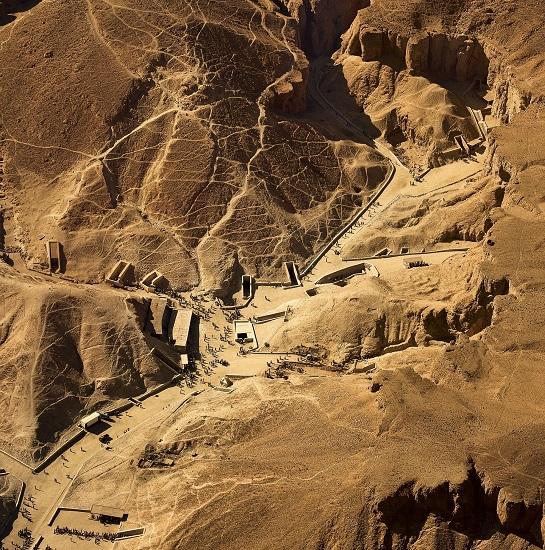 El Valle de los Reyes visto desde el cielo