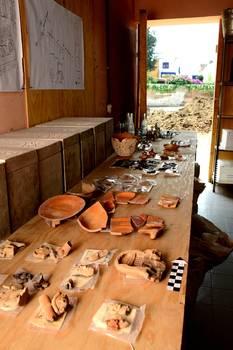 Restos prehispánicos hallados en churubusco