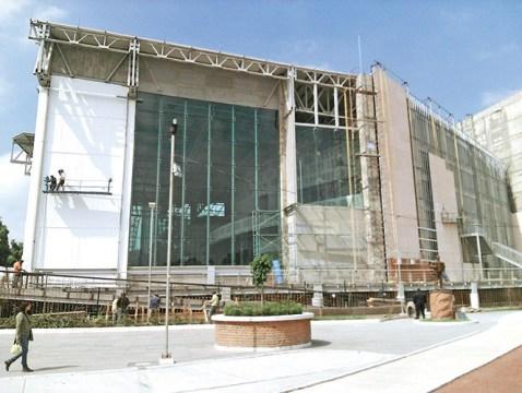 Teatro que está sobre restos arqueológicos