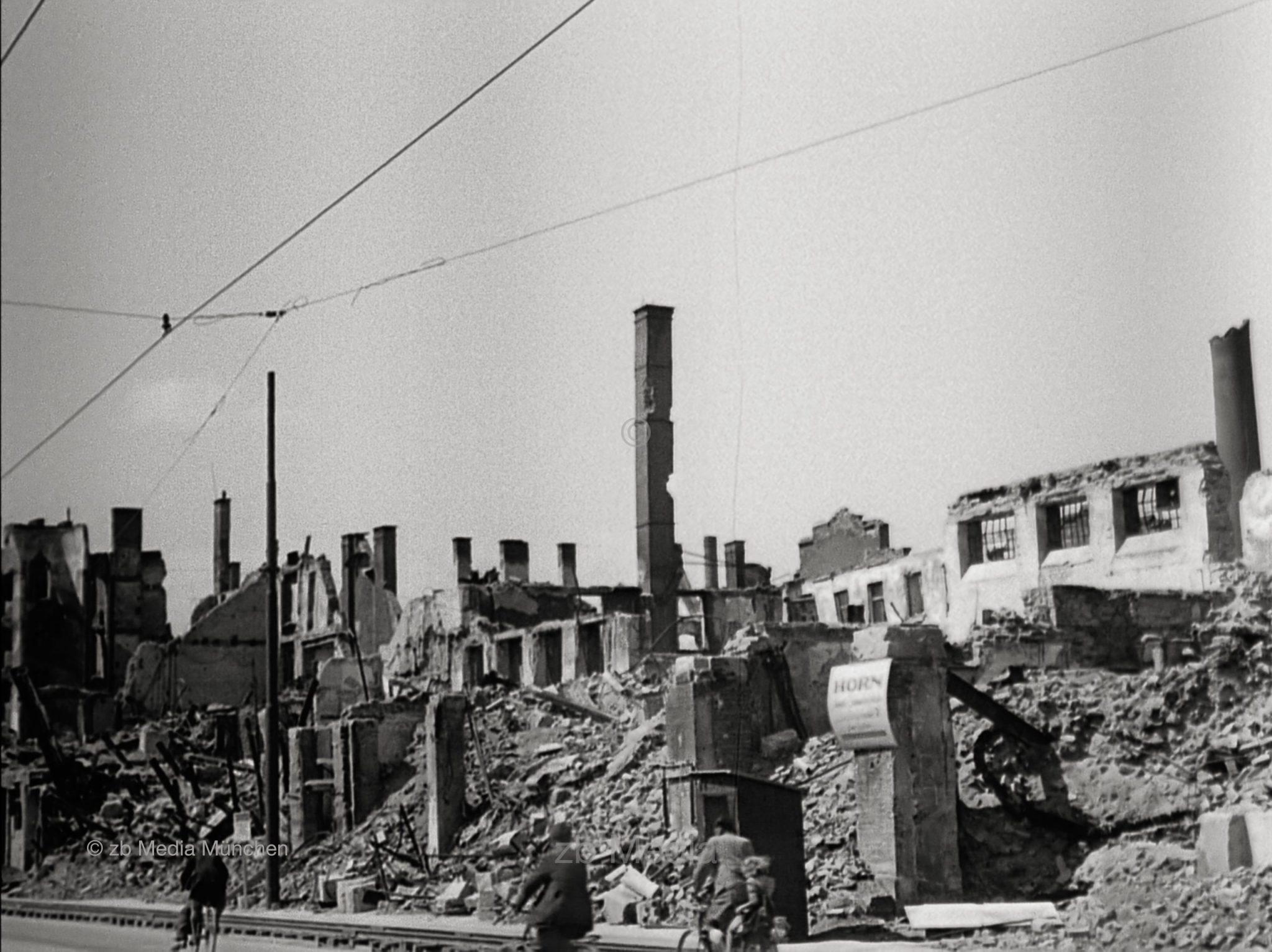 Zerstörungen München Mai 1945