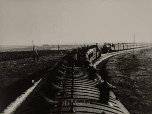 Eisenbahnzug in der Sowjetunion