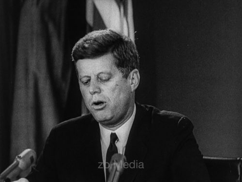 John F. Kennedy während Kubakrise 1962