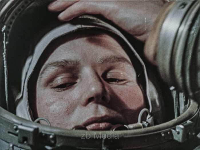 Valentina Tereschkowa im Vostok 6 Raumschiff