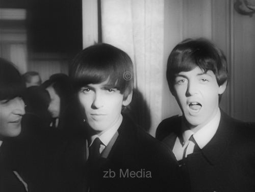 George Harrison und Paul McCartney Variety Club 1964
