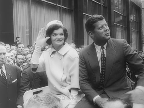 John and Jacqueline Kennedy after presidential election