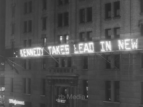 John F. Kennedy in Führung - Präsidentschaftswahl 1960