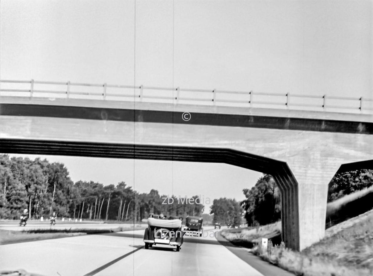 Autobahn bei Oppeln 1937