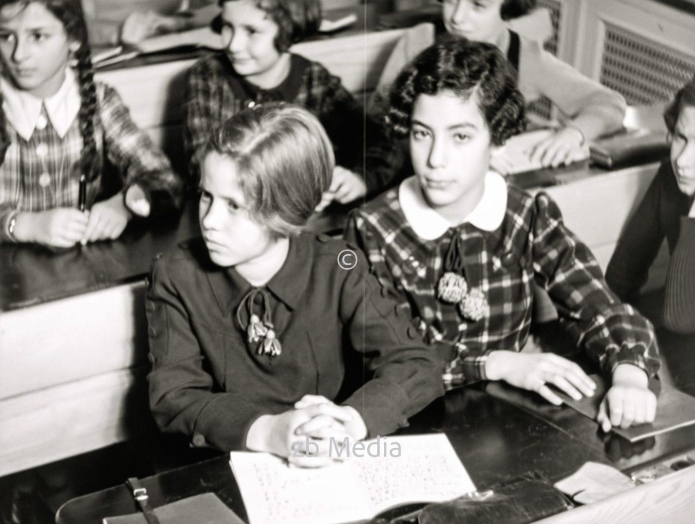 Schulklasse in der jüdischen Goldschmidtschule in Berlin 1937