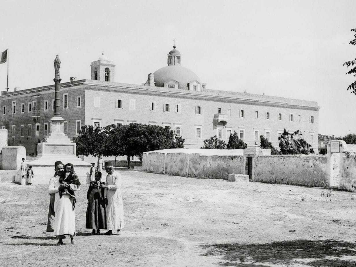 Karmeliterkloster Stella Maris in Palästina 1935