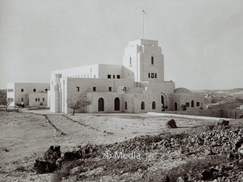 Government House Jerusalem, Residenz des Hochkommissars für Palästina 1930