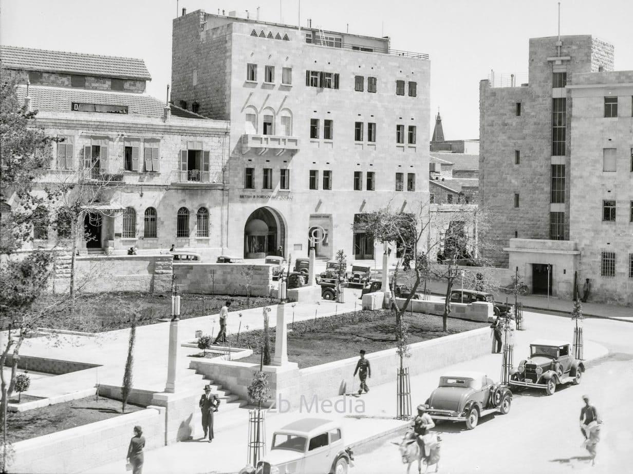 Gebäude der Britischen und Ausländischen Bibelgesellschaft Jerusalem 1935