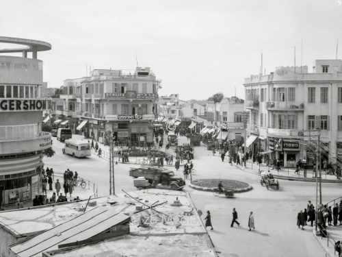 Tel Aviv Straßenkreuzung Allenby, Carmel & Nachlat Benjamin Str.
