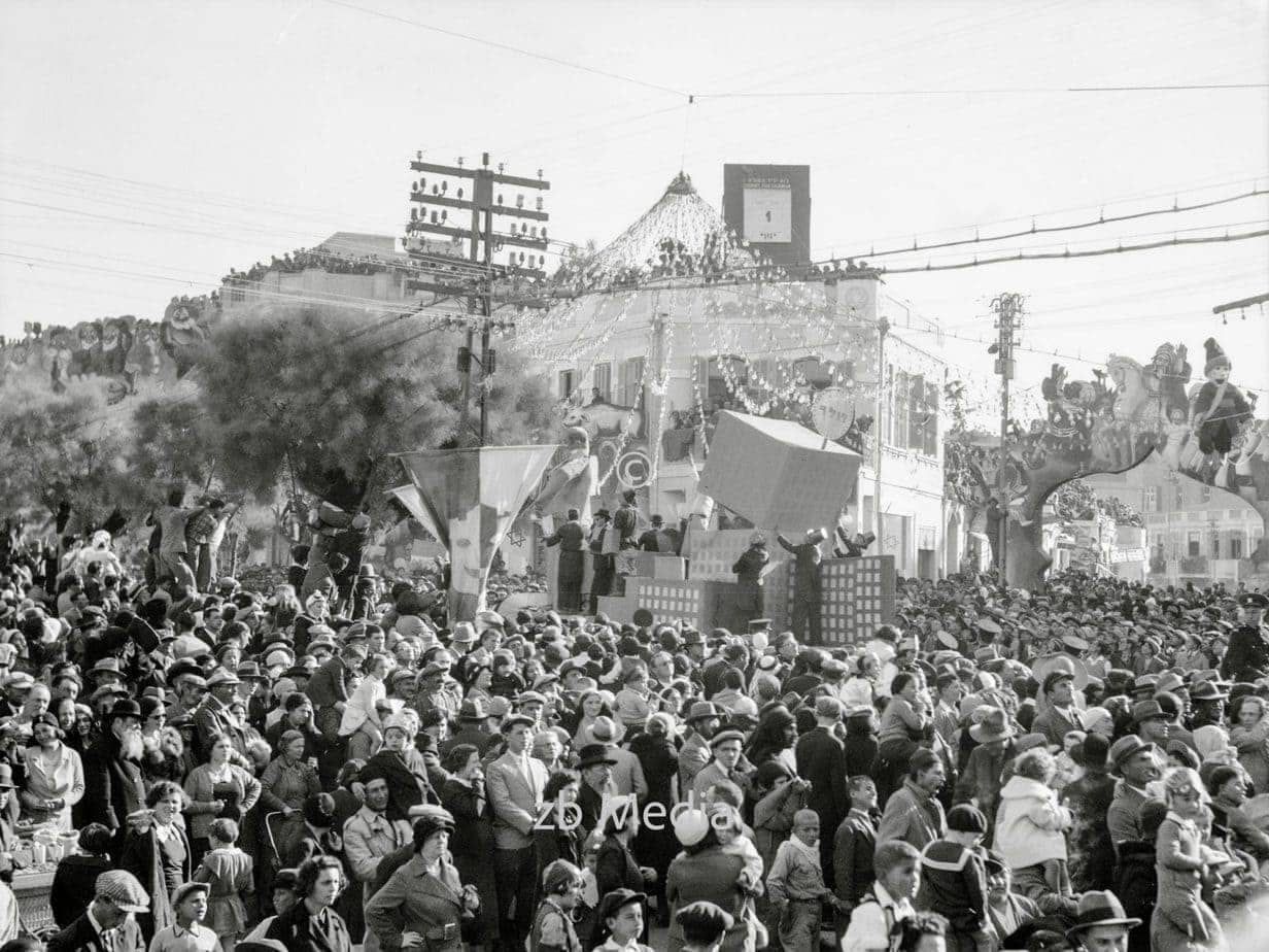 Purim-Karneval in Tel Aviv. 1934