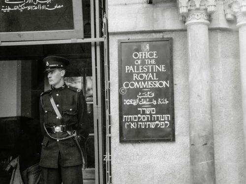 Büro der Palestine Royal Commission 1937