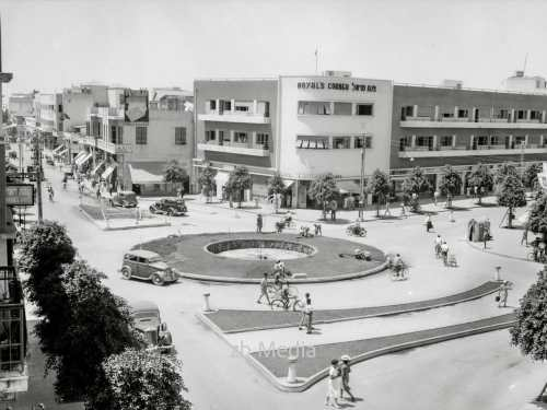 Stadtbild - Straßen in Tel Aviv 1935