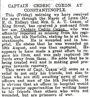 Captain Coxon