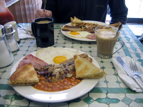 Full English breakfast fry-up
