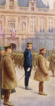 King George V at the Front
