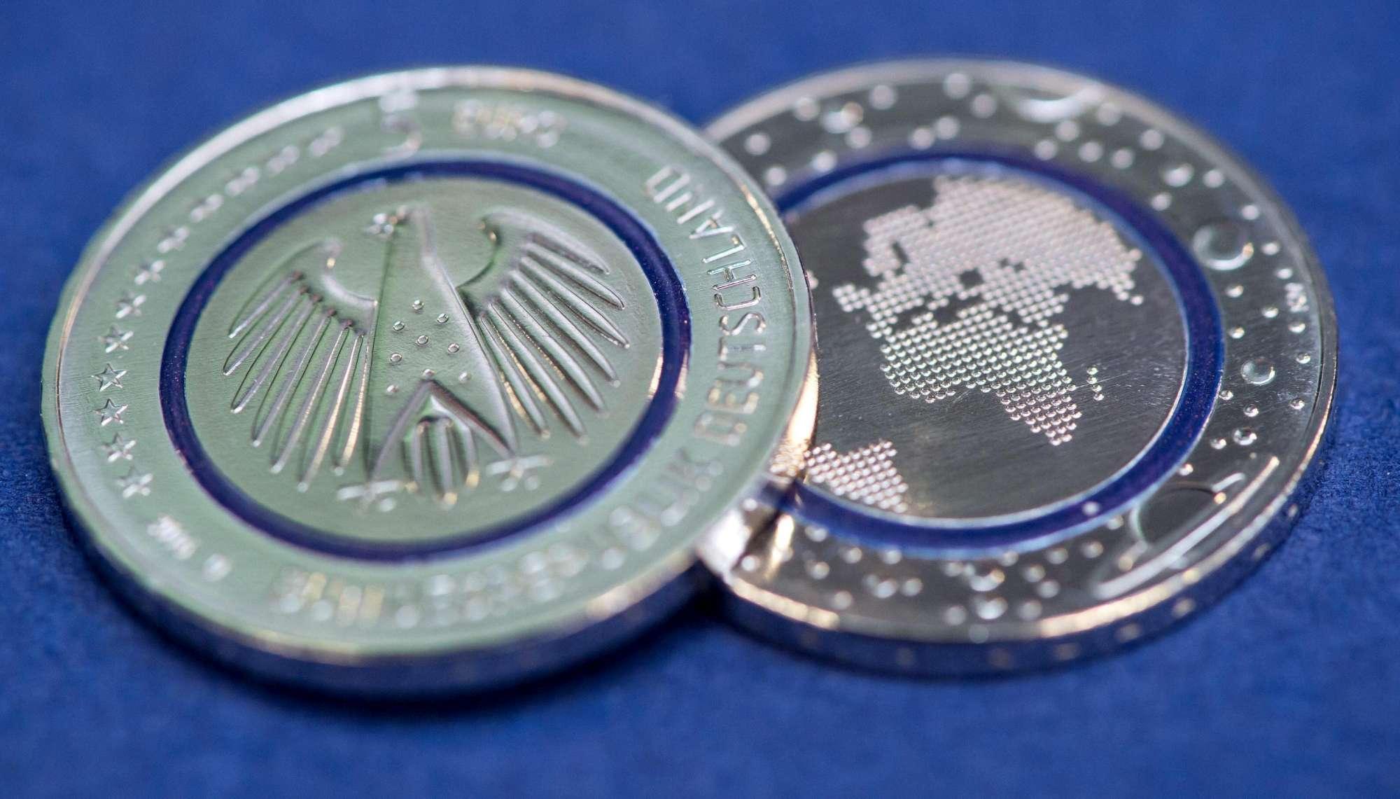 germania conia nuova moneta da 5 euro