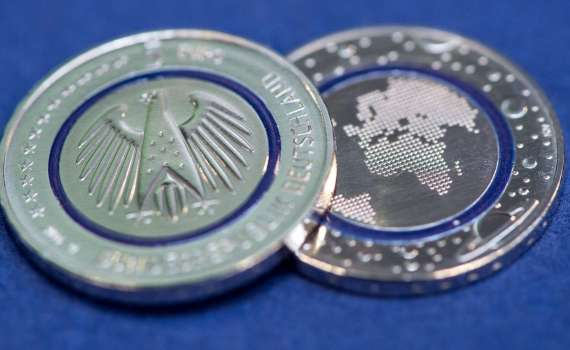 germania conia nuova moneta da 5 euro
