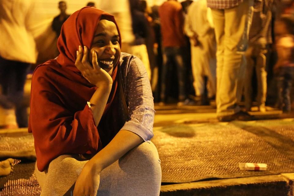 Sudanese protestor