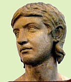 Roman sculpture of young barbarian