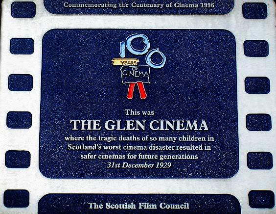 Paisley Glen Cinema Plaque
