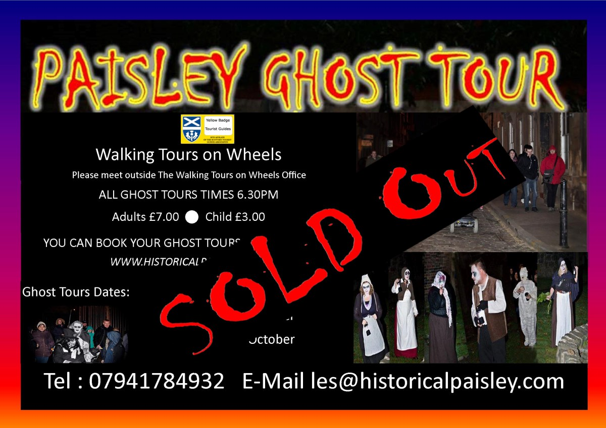 PAISLEY GHOST TOUR SOLD OUT