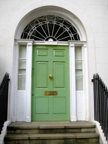 pantone green front door