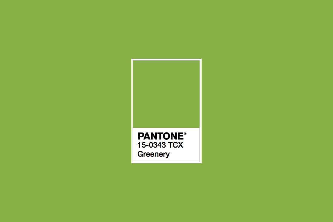 pantone greenery colour of the year