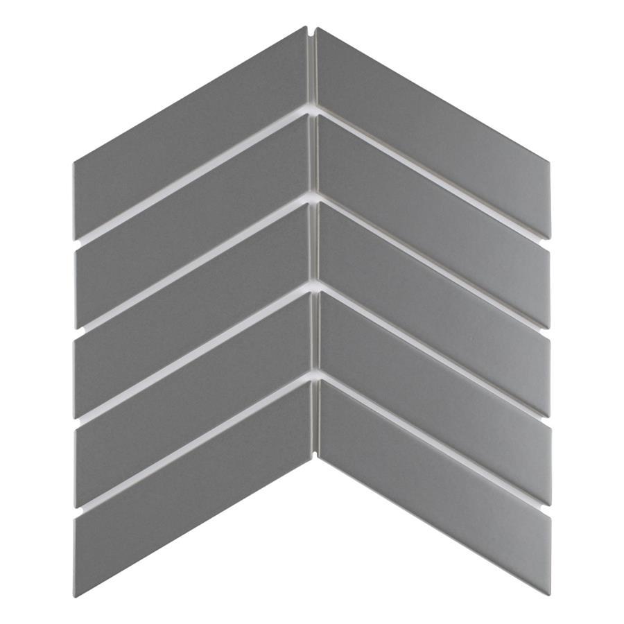 metro soho chevron matte grey 1 3 4 x 7 porcelain tile sold per piece 1 0 square feet