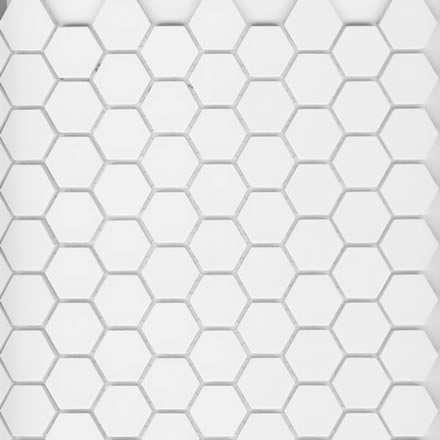 1 unglazed porcelain hex tile arctic white