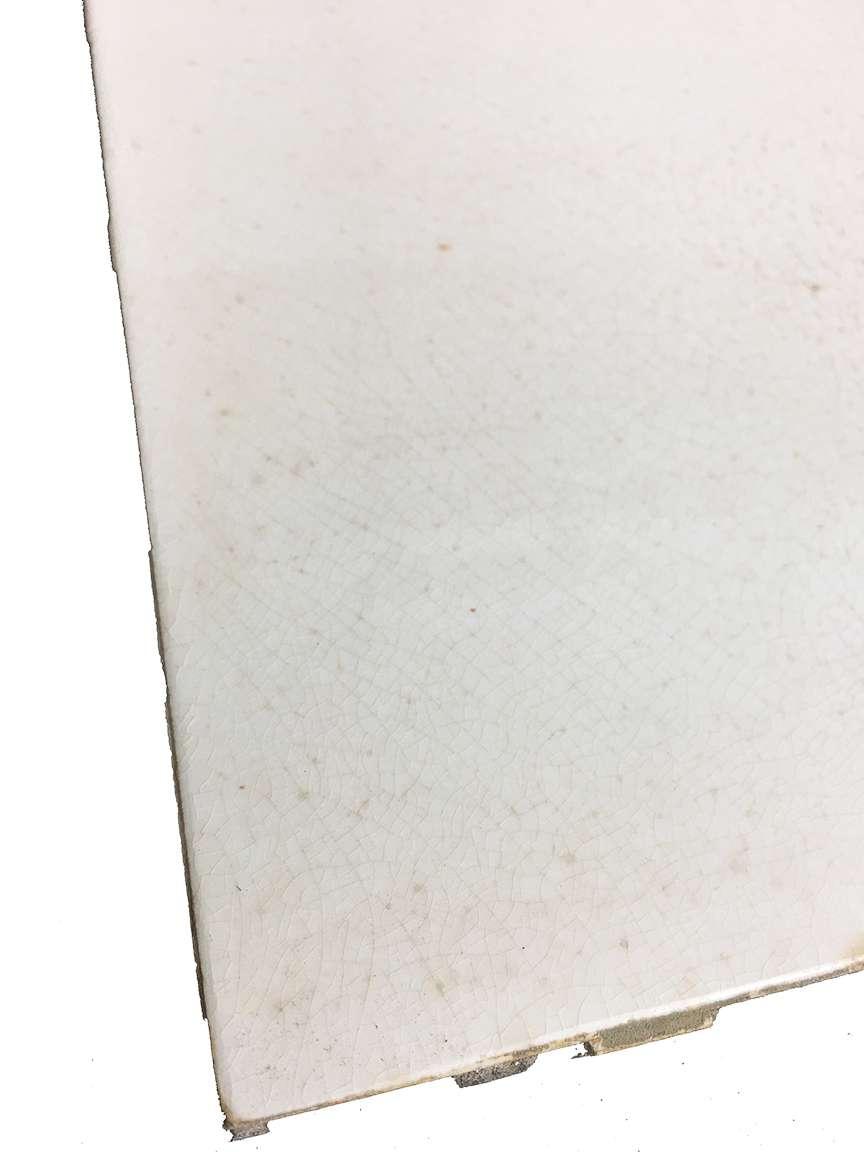 antique white crackle glaze a e tile co american encaustic porcelain subway tile 6 x 6