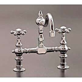deck mount solid brass kitchen faucet 8 on center multiple finishes available