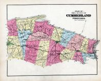 Cumberland County 1872 Pennsylvania Historical Atlas Cumberland County Map   Plan of  Cumberland County 1872