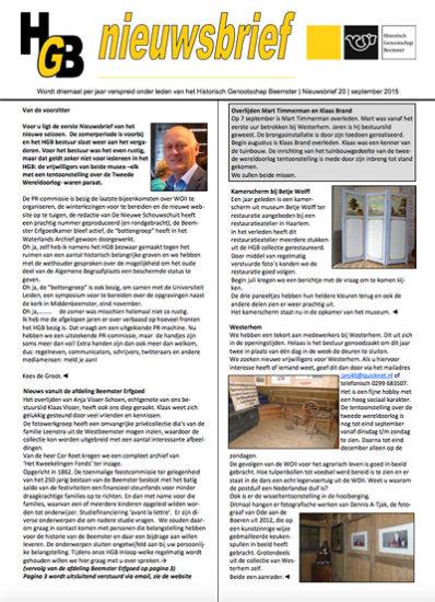 HGB Nieuwsbrief 25