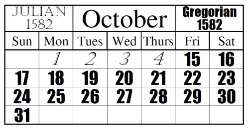 Overgang van Juliaanse kalender naar de Gregoriaanse kalender