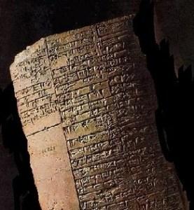 Kleitablet Mesopotamië over zeep