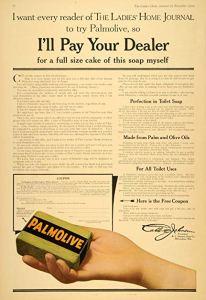 advertentie en coupon Palmolive